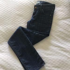 Express • Mid Rise Dark Wash Skinny Jeans